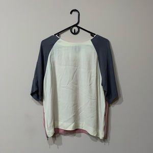Top shop color block blouse